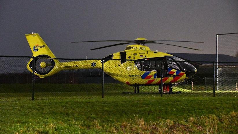 Traumahelikopter ingezet in #OudVossemeer:.