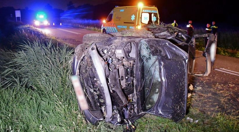 Gewonde bij ongeluk Clinge, auto total loss.