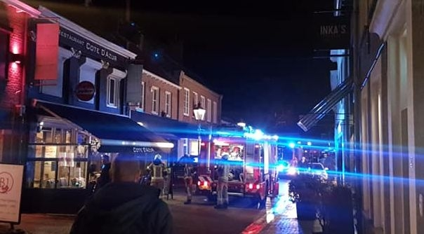 De brand woedde in de Kapellestraat.