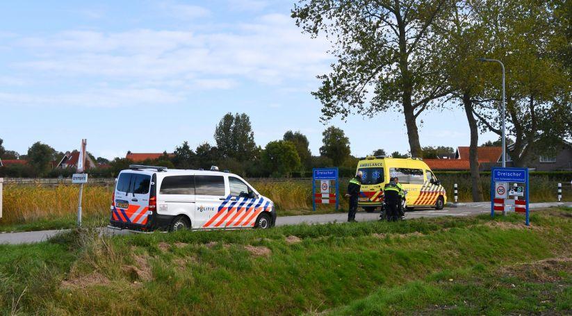 Motorrijder gewond bij ongeluk in Dreischor.