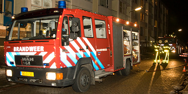 Felle brand in flatwoning Goes