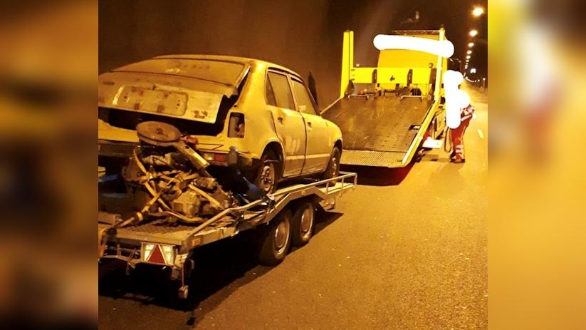 Westbuis Westerscheldetunnel dicht na ongeluk.
