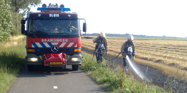 Flink stuk land afgebrand in Retranchement