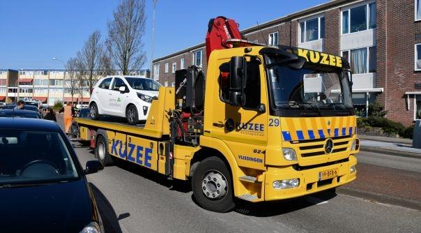Automobilist vlucht na ongeluk Vlissingen.