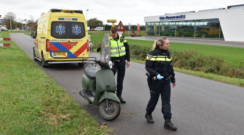 Snorfietser gewond bij ongeluk in Goes.