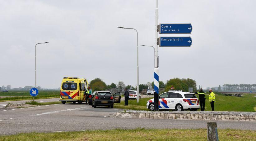 Gewonde bij aanrijding Oudedijk Kortgene.