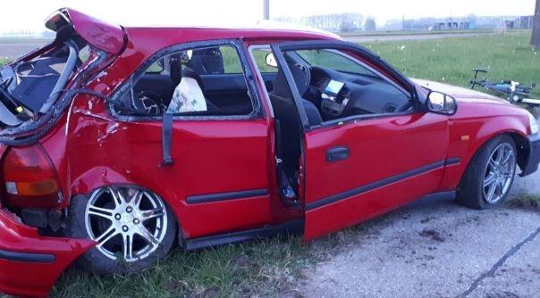 Arrestatie na ongeval met letsel Clinge.