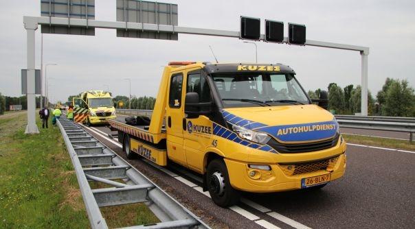 Ongeluk met motor op N57 Middelburg.