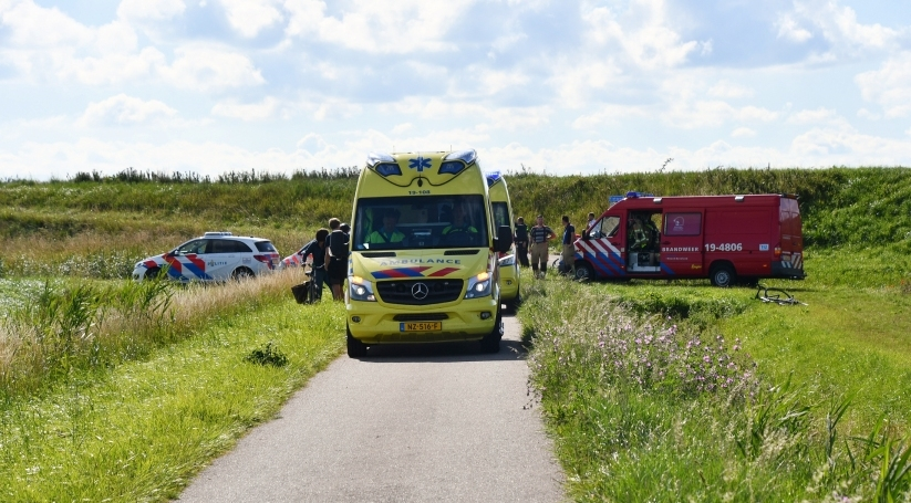 Ernstig ongeluk wielrenner Kamperland.