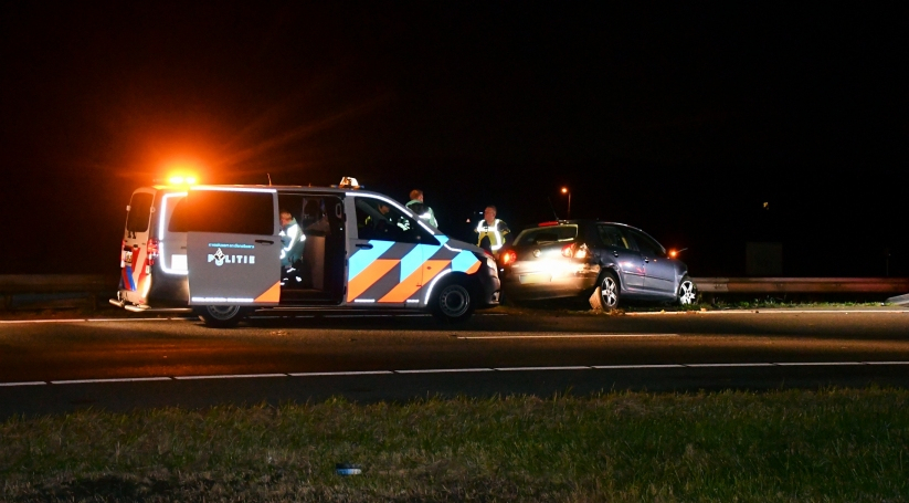 Gewonde bij ongeluk A58.
