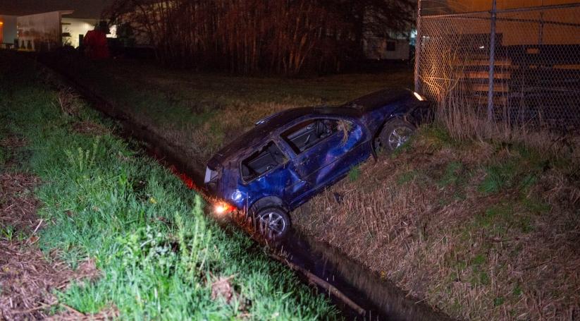 Gewonde bij eenzijdig ongeluk in Tholen.