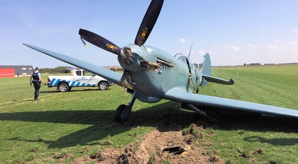 Ongeluk met vliegtuig op Midden-Zeeland.