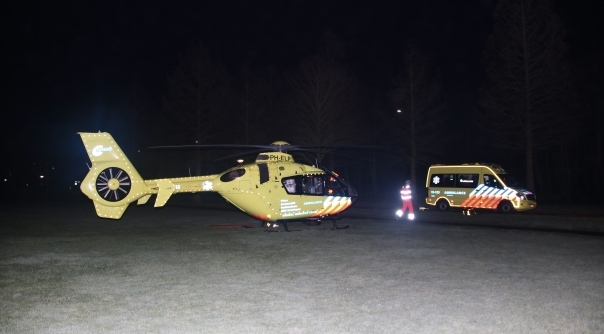 De traumahelikopter in Goes.