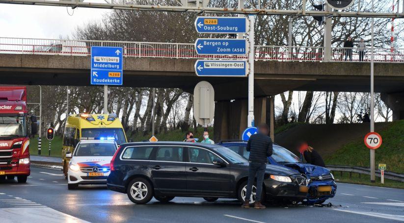 Persoon onderzocht na ongeval in Vlissingen.
