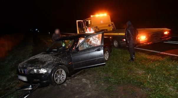 Eenzijdig auto-ongeluk op Oesterdam bij Tholen.