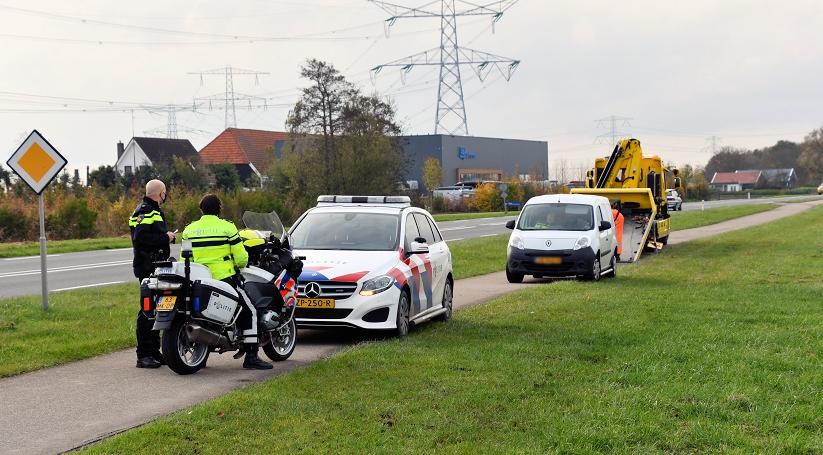 Motorrijder gewond bij ongeluk in Kruiningen.
