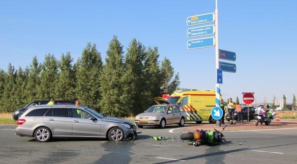 Ernstig ongeluk op N289 Kruiningen.