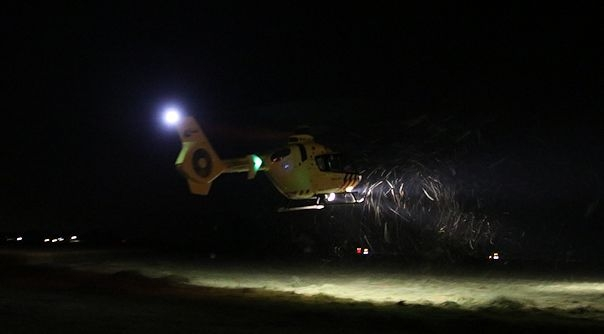 De traumahelikopter in Rilland.