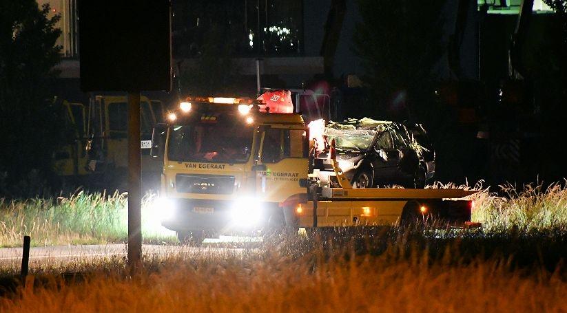 Gewonde bij ongeval op afrit A58 Kruiningen.