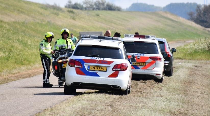 Ongeval met motorrijder en wielrenner Nieuw-Namen.