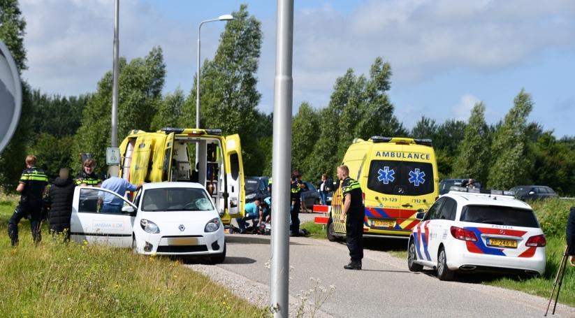 Wielrenner zwaargewond na aanrijding in Middelburg.
