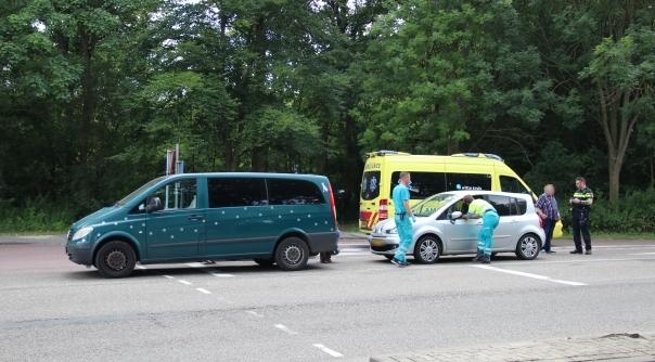 Botsing bij stoplichten in Vlissingen.