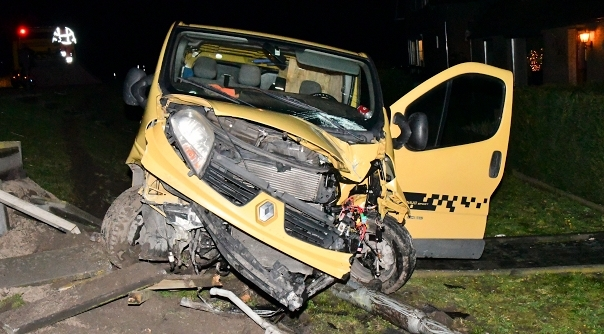 Forse schade bij ongeluk in Axel.