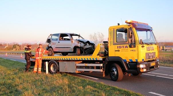 Gewonde bij ongeluk N57 Haamstede.