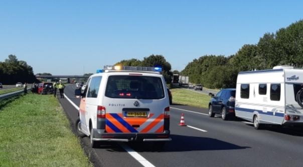 Files door ongeval op A58 bij Rilland.