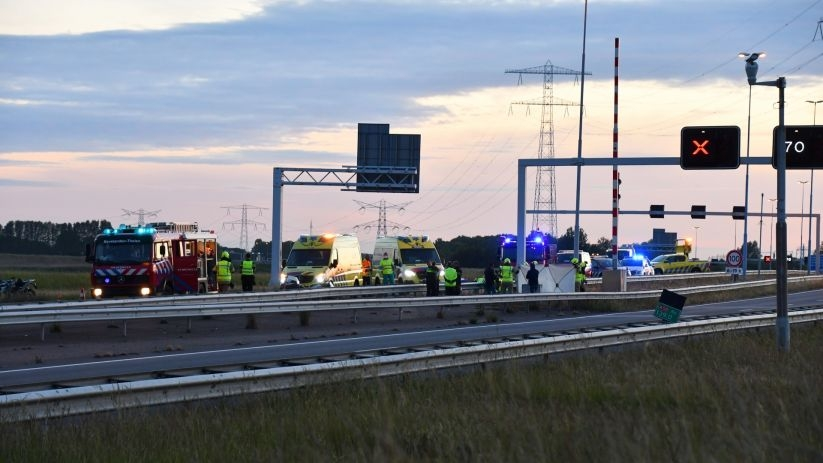 Ernstig ongeluk op A58 bij Yerseke.
