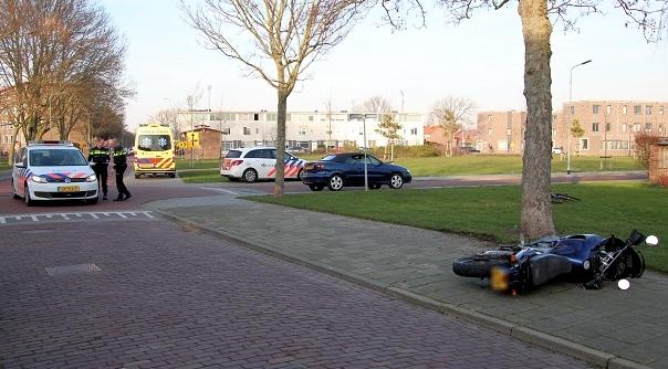 Motorrijder gewond na botsing Vlissingen.