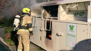 Brand in kledingcontainer Yerseke