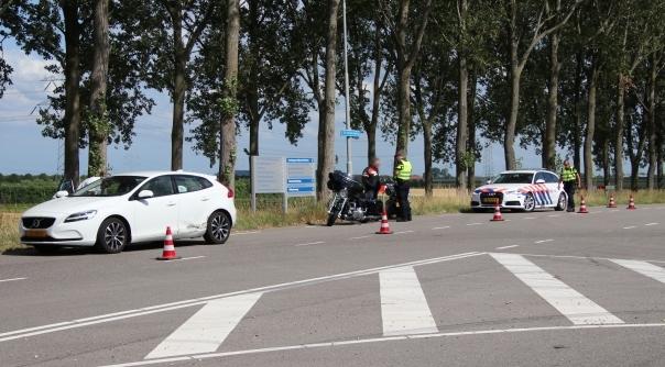 Motorrijder gewond bij botsing Kruiningen.
