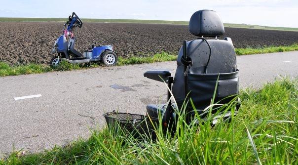 Ongeval met scootmobiel Kruiningen.