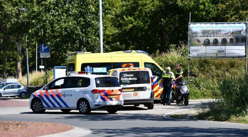 Scooterrijder gewond bij ongeluk Zierikzee.