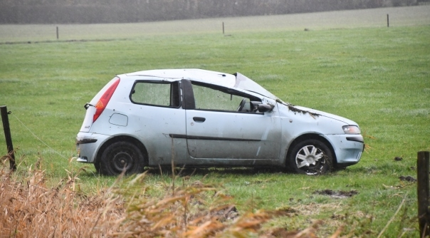 Gewonde bij auto-ongeluk Aagtekerke.