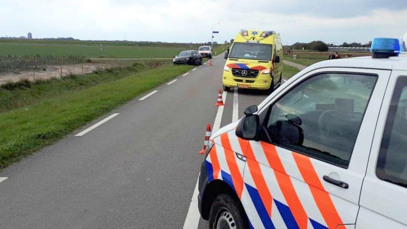 Motorrijder gewond bij botsing in Noordgouwe.