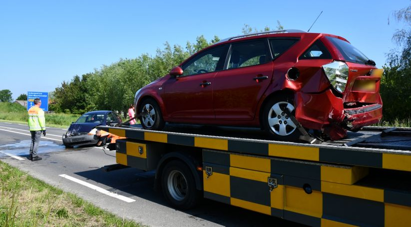 Letsel bij botsing autos op N286 Poortvliet.