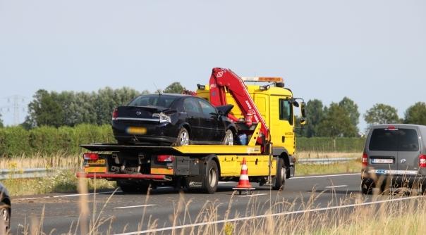Gewonde bij ongeval A58 Kruiningen.