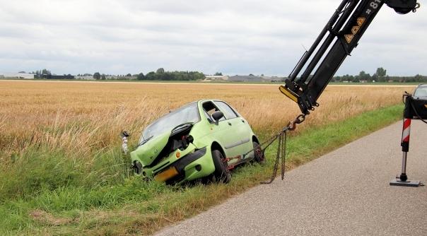Automobilist gewond bij ongeluk in Eede.