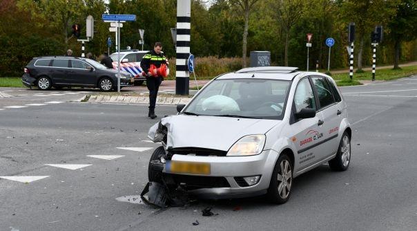 Schade bij aanrijding in Middelburg.