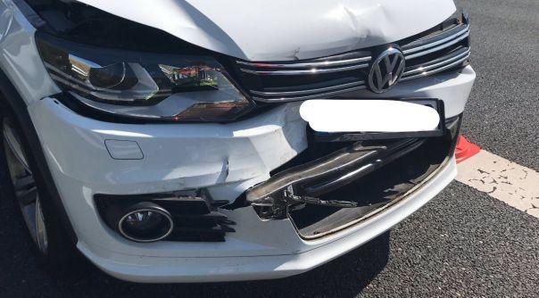 Materiële schade bij aanrijdingen op A58.