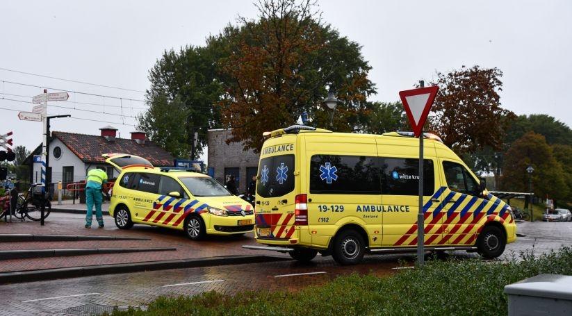 Scooterrijder gewond bij ongeluk Oost-Souburg.