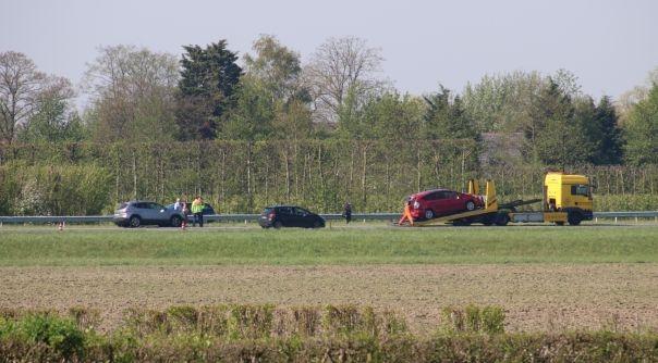 File door ongeluk op A58 bij Waarde.