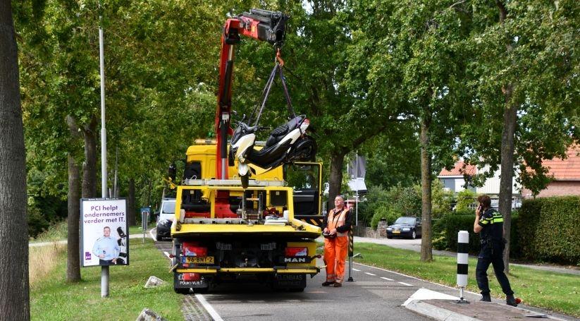 Motorrijder gewond bij ongeluk Stolpweg Nieuwerkerk.