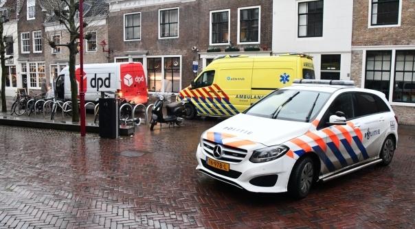 Gewonde bij ongeval met bestelbus centrum Middelburg.
