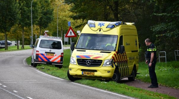 Vrouw gewond bij fietsongeluk Vlissingen.