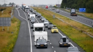 Flinke files door incidenten op A58