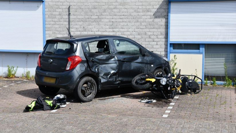 Letsel bij ongeval tijdens motorrijles in Goes.