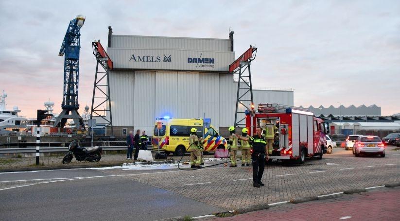 Motorrijder gewond bij botsing met auto Vlissingen.
